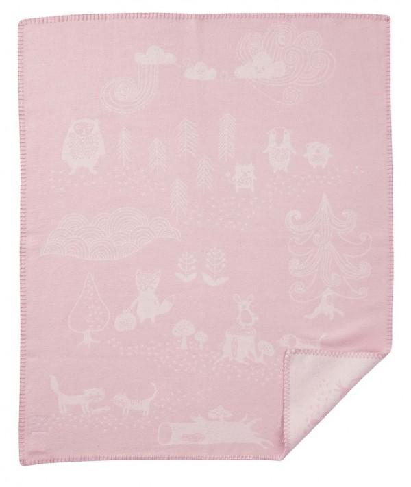 Little bear baby bomullsfilt rosa