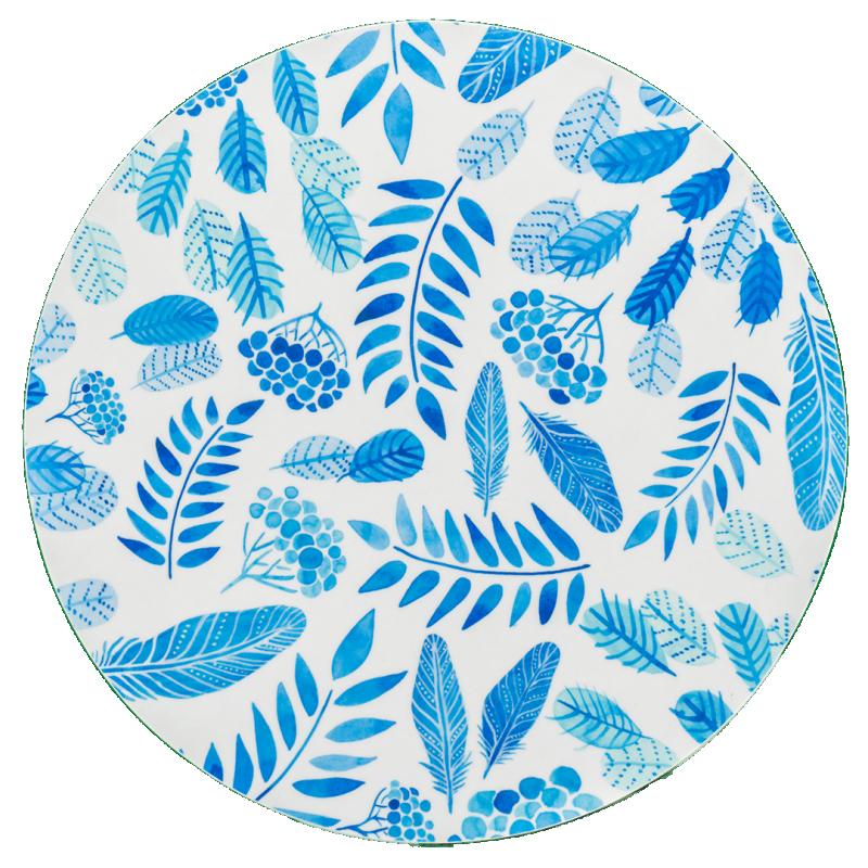 Grytunderlägg Blue hour- Blå ø20cm