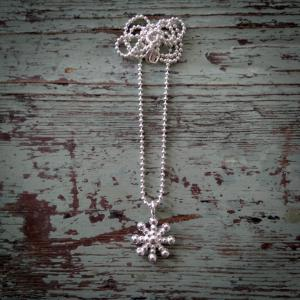Halsband snöflinga silver