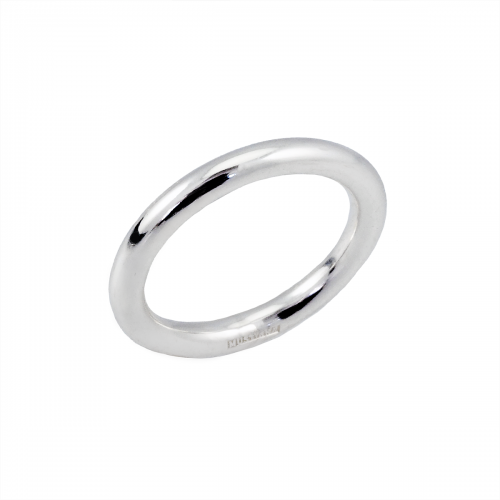 Silverring slät 3 mm
