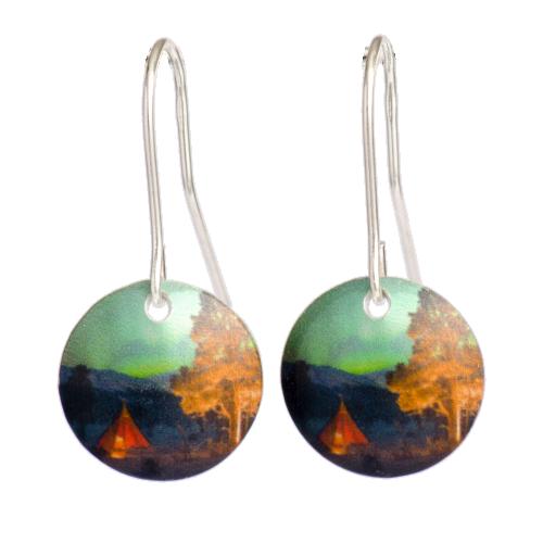 Aurora borealis örhängen-Lavvu