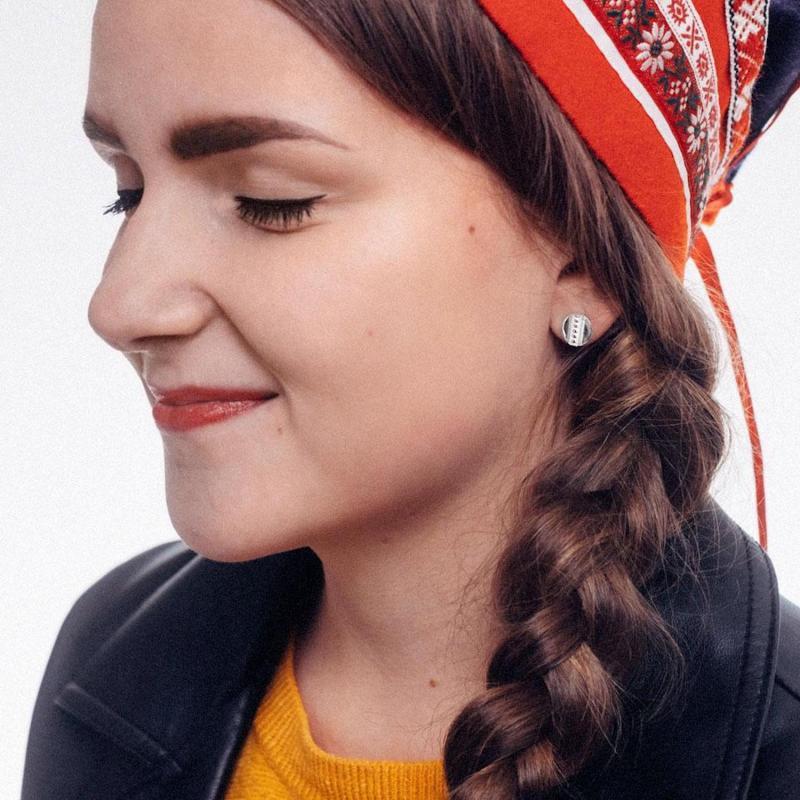 Örhängen i silver på samisk modell