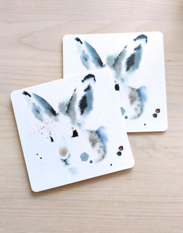 Ester Visual 2p glasunderlägg Hare
