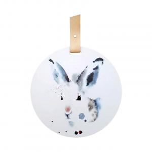Ester Visual grytunderlägg motiv Hare med upphängning av renskinn