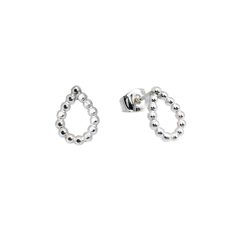 Droppörhängen mini stift silver