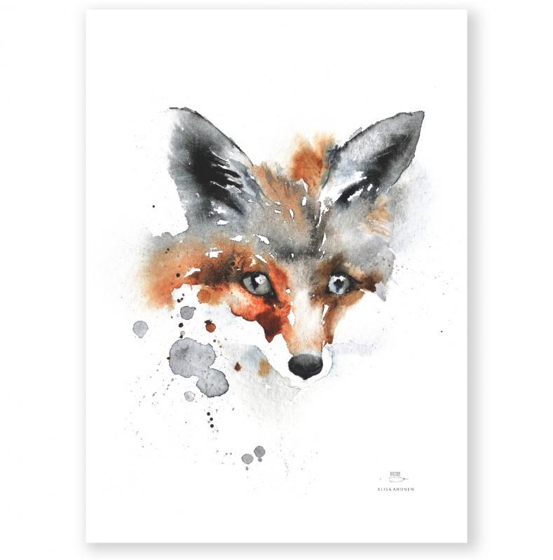 Ester Visuel Poster Fox, Räv