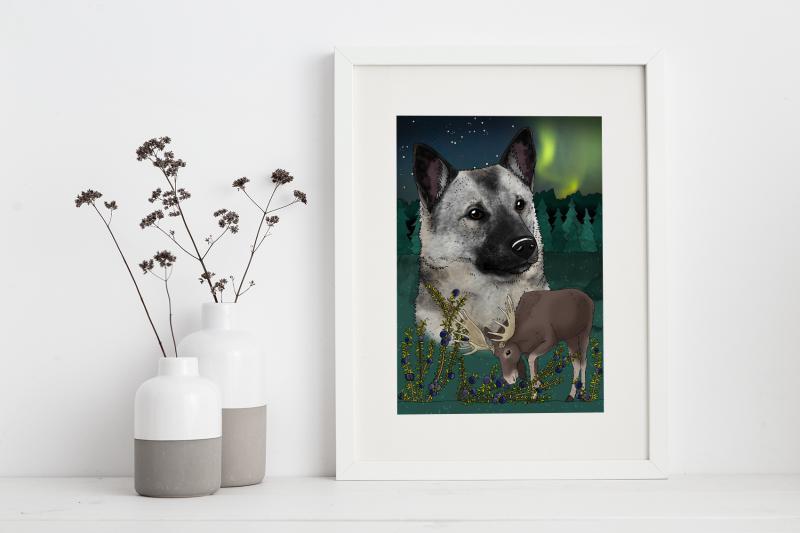 Poster Gråhund