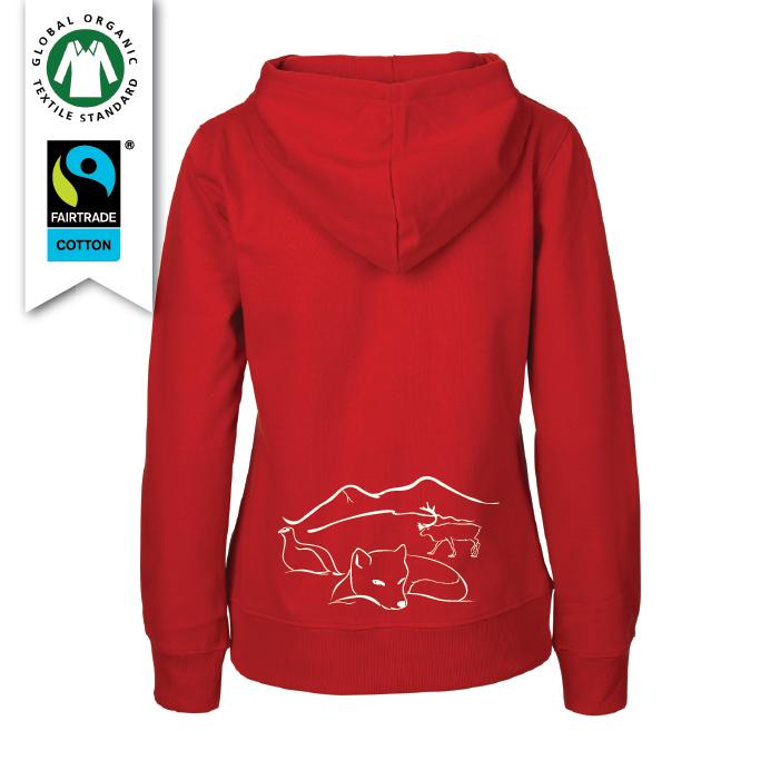 Hoodie Lappland röd (D)