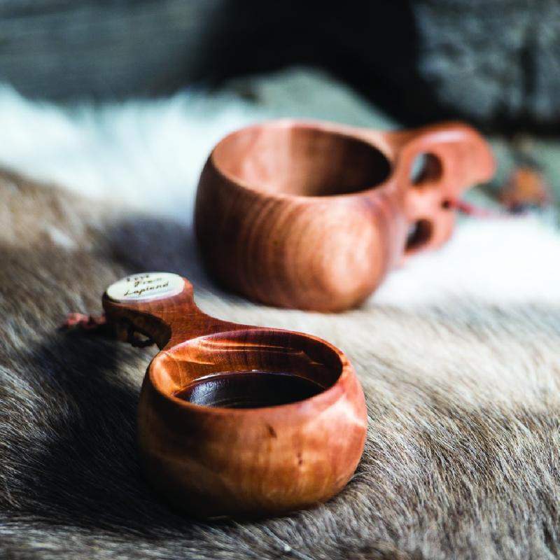 Handgjorda kåsor från Lappland