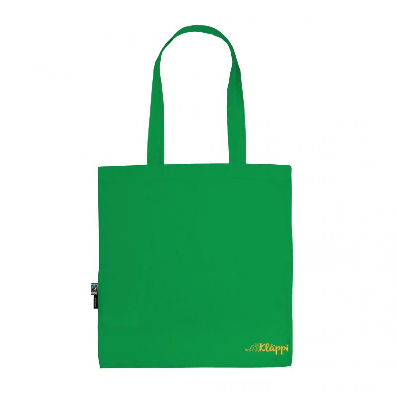 Kläppi- Grön Ekologisk tygkasse med tryck 2