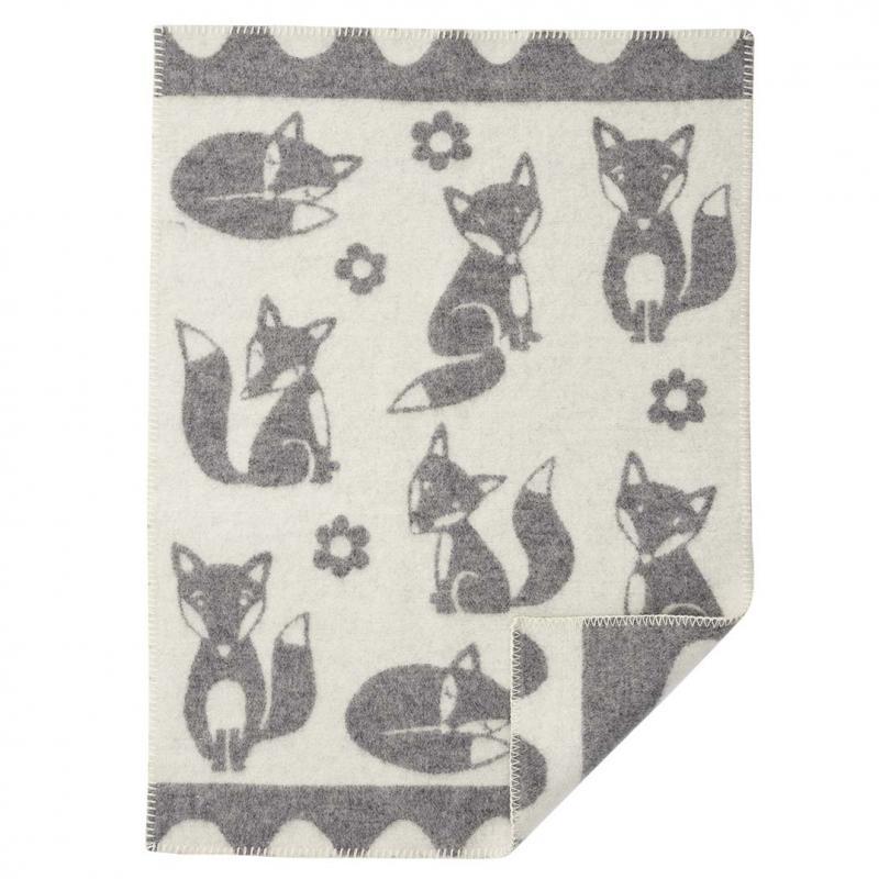 Ullfilt Fox Baby grå