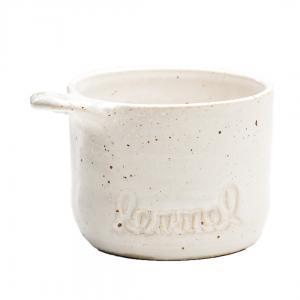Handgjord keramik kåsa vit från Lemmelkaffe Betula inte sova bara kaffe
