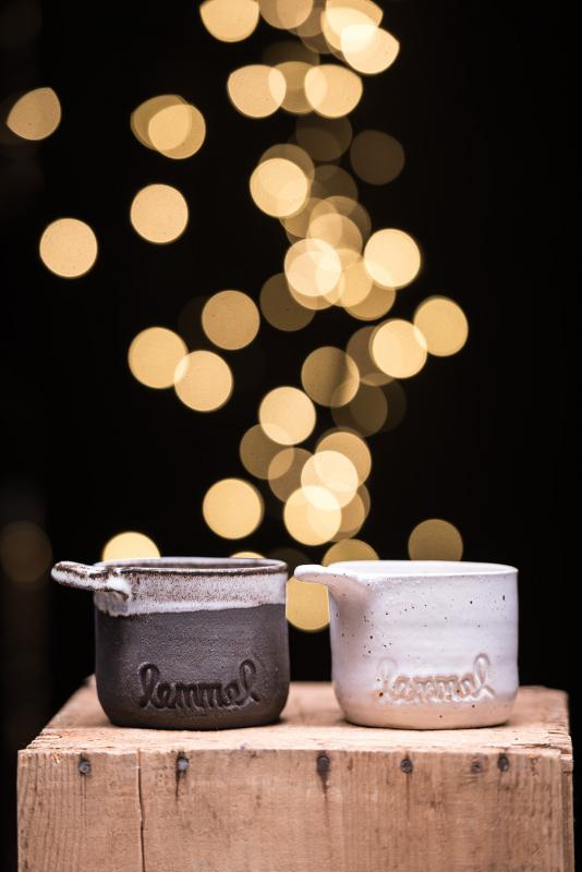 Lemmelkaffe keramik kåsa två stycken