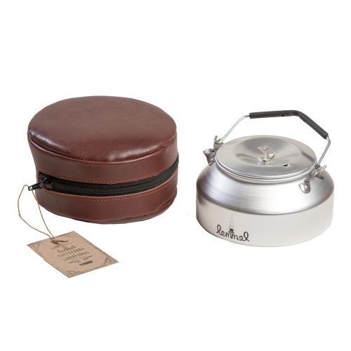 Lemmelkaffe kaffepanna med läderfodral
