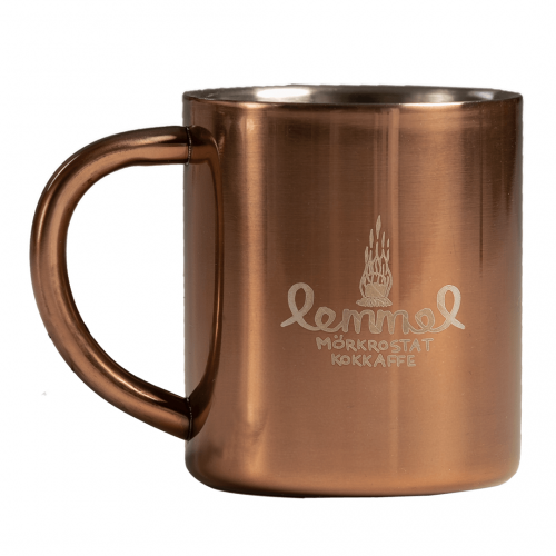 Lemmelkaffe koppardaug med tryckt lemmel logo