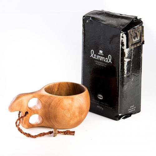 Paket- Kokkaffe & träkåsa 1dl