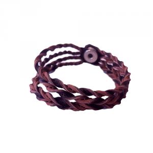 Kero- Läderarmband Mirre natur/antik