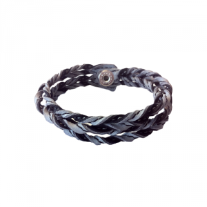 Kero- Läderarmband Mirre grå/svart