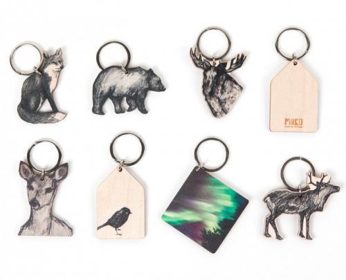 Miiko-Nyckelring i björk