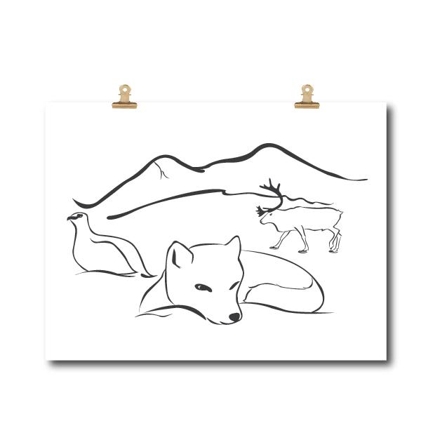 Poster Lappland
