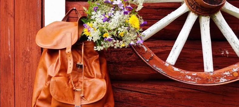 Ryggsäckar i skinn och läder
