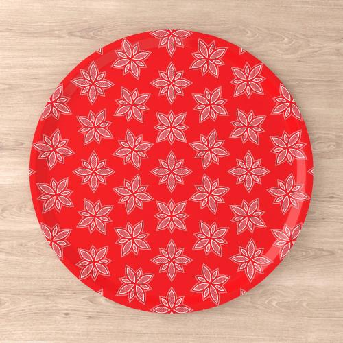 Stoorstålka bricka Snöros 38 cm röd