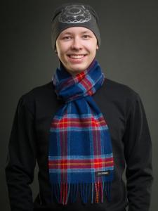 Stoorstålka samisk halsduk blå