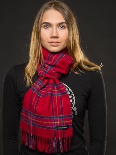 Stoorstålka samisk halsduk röd