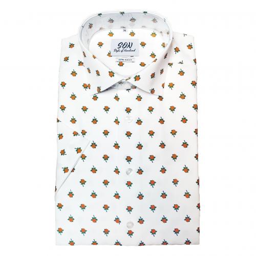 Kortärmad skjorta Hjortron SLIM FIT