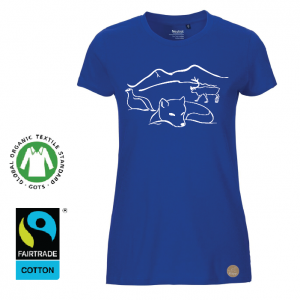 "T-shirt  Dam ""Lappland"" Royal"