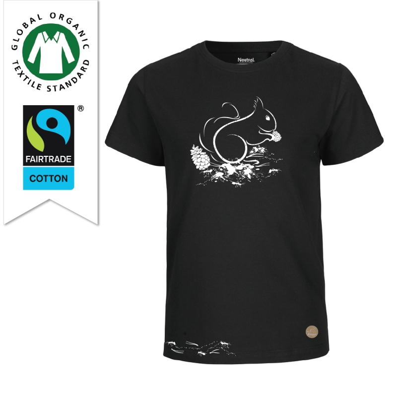 T-shirt skogen Svart