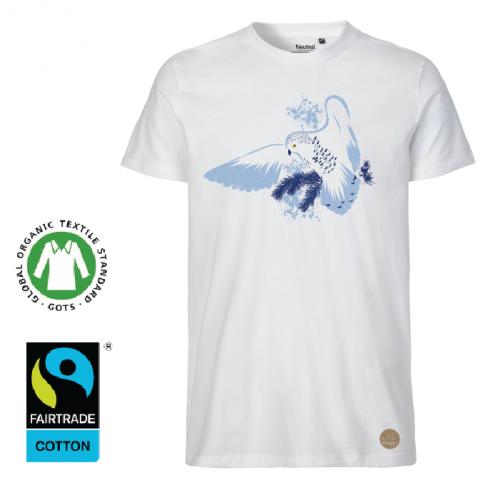 """T-shirt """"Fjälluggla"""" vit (H)"""