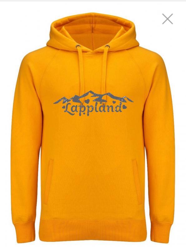 KLÄPPI Hood Lapplandtext GUL