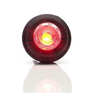 Runt led positionsljus för infällning röd