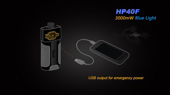 Fenix HP40F Led pannlampa med blått ljus