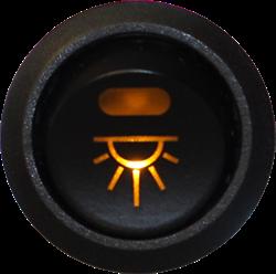 Brytare Innerbelysning, belyst symbol