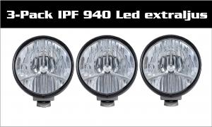 3-Pack IPF 940 Premium Led Extraljus