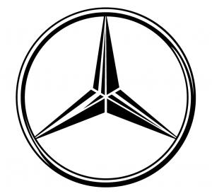 Mercedes sidorutsdekal