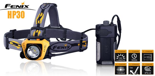 Fenix HP30 Led pannlampa GUL