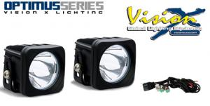 Vision X Optimus single 10w Led extraljus KIT