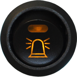 Brytare Varningsljus, belyst symbol