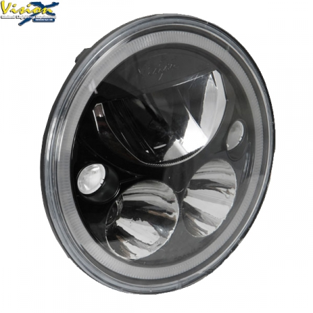 "Vision X Vortex 7"" LED hel- & halvljusinsats Svart Krom"