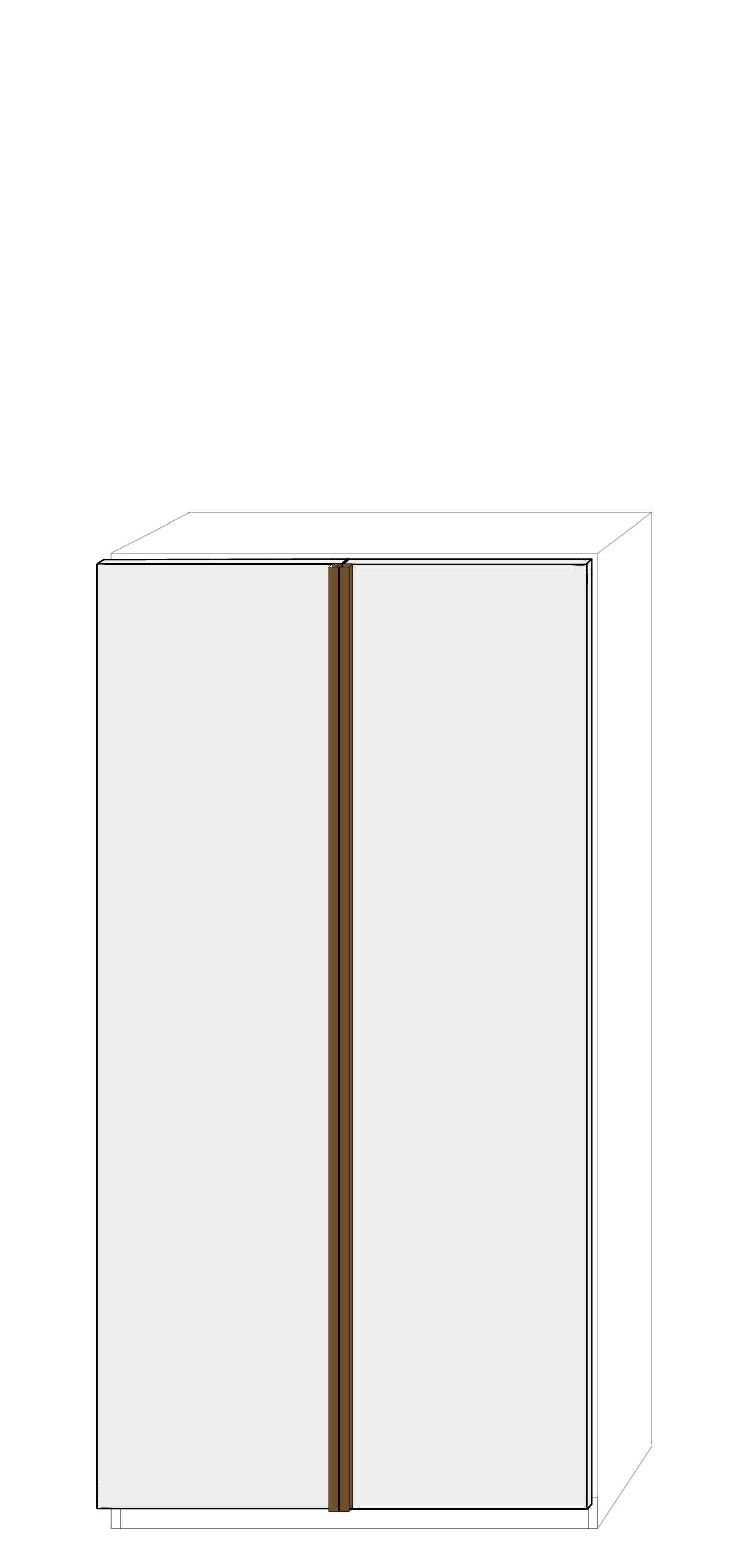 Dörrpar 100cm Pax - fanér med grepplist