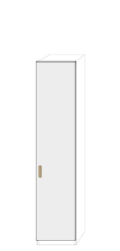 Högerhängd dörr 50cm Pax - fanér med paula grepp