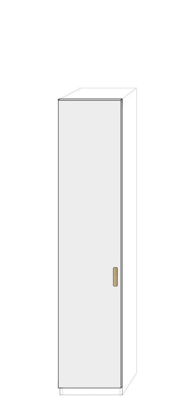 Vänsterhängd dörr 50cm Pax - fanér med paula grepp