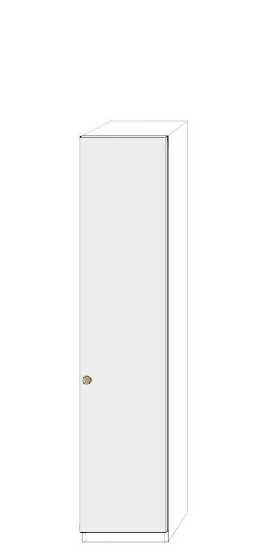 Högerhängd dörr 50cm Pax - fanér med pixie grepp