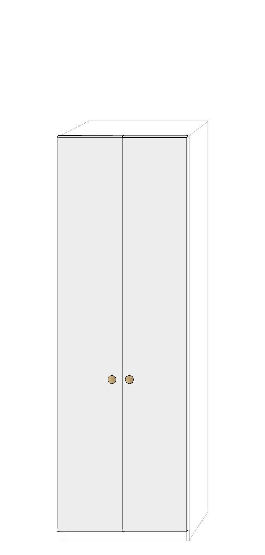 Dörrpar 75cm Pax - fanér med pixie grepp