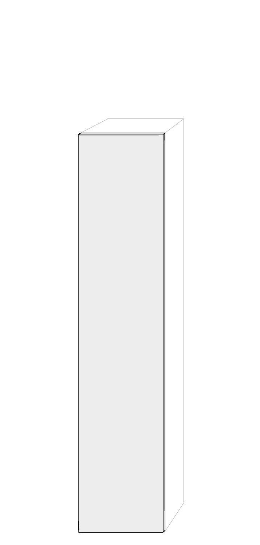Vänsterhängd dörr 50x236cm Pax - True Elm