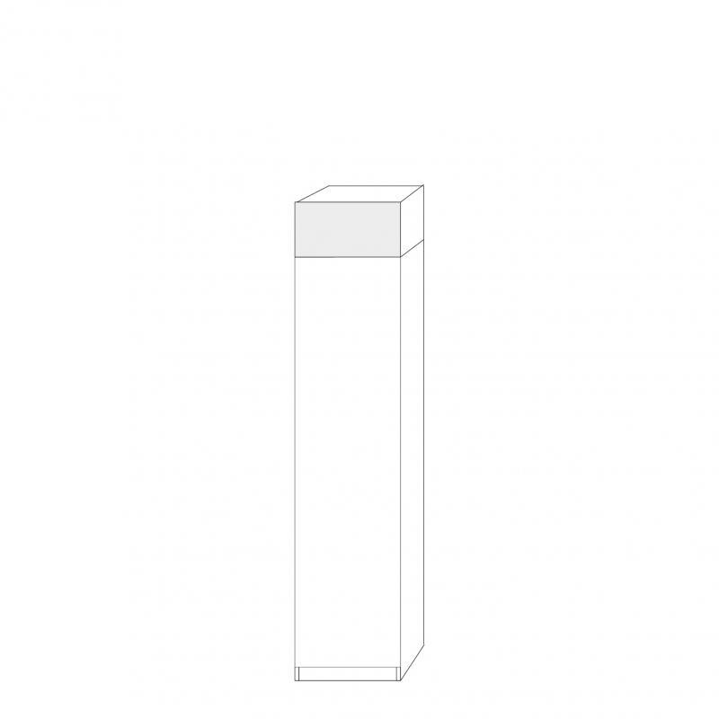 Kort högerhängd dörr 50cm Pax - fanér