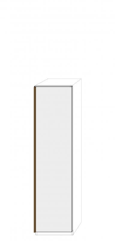 Högerhängd dörr 50cm Pax - fanér med grepplist